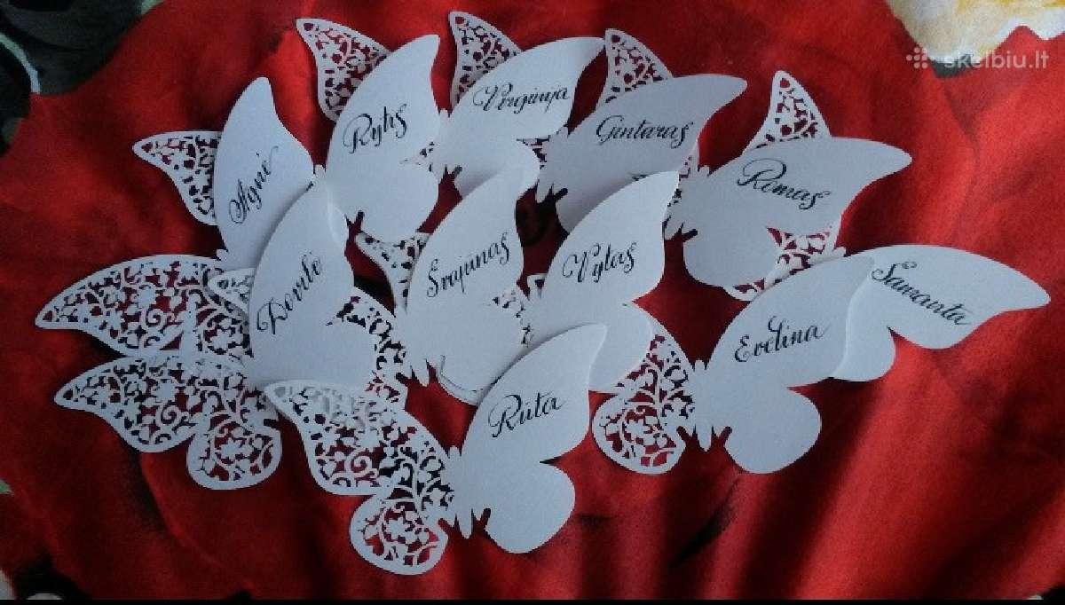 Stalo / vardo kortelės, dovanų dėžutės