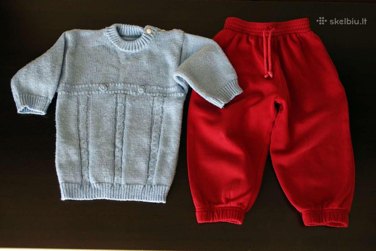 Megztinis kelnės 2m., marškinėliai 86/92 cm