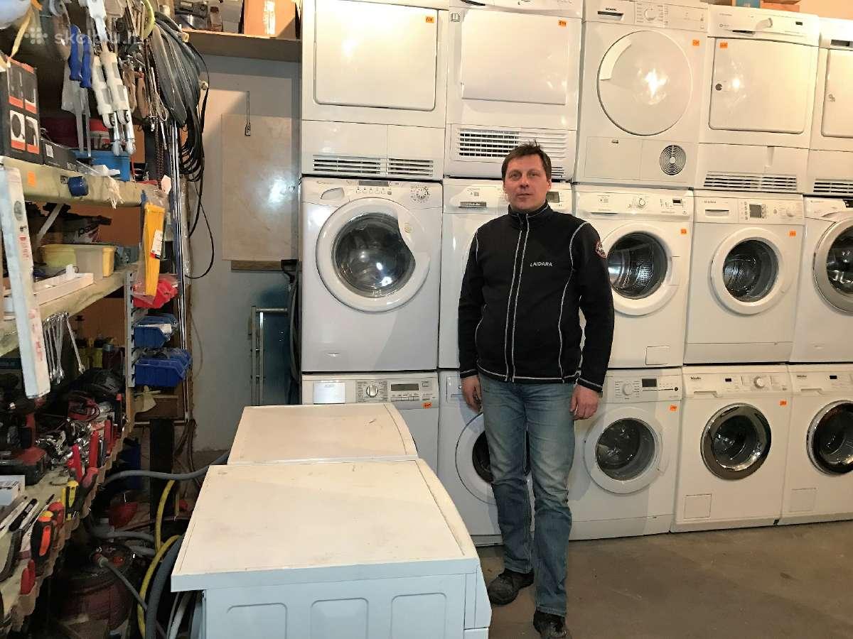 Naudotos skalbimo mašinos džiovyklės iš Norvegijos