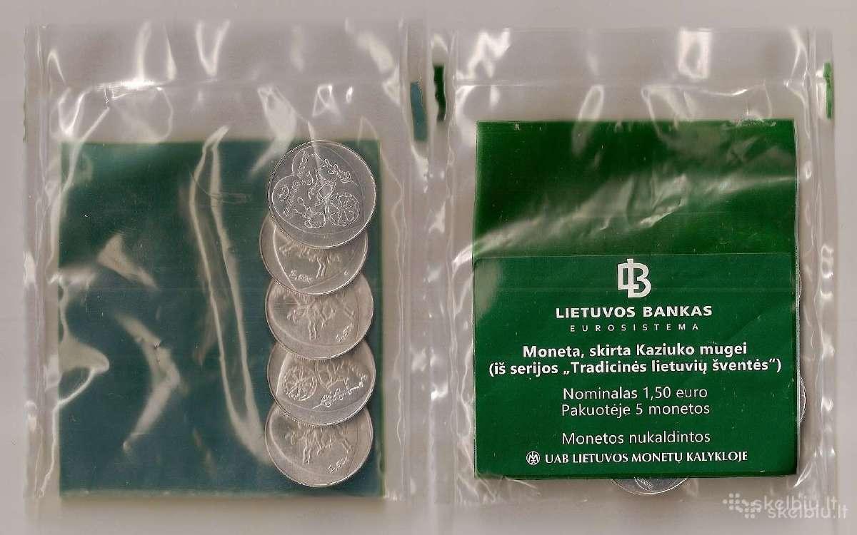 1.5 euru moneta skirta Kaziuko Mugei