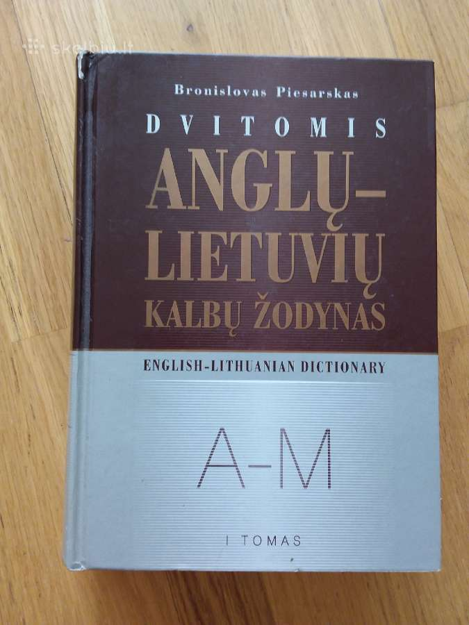 Anglų-lietuvių kalbų žodynas A-m (I tomas)