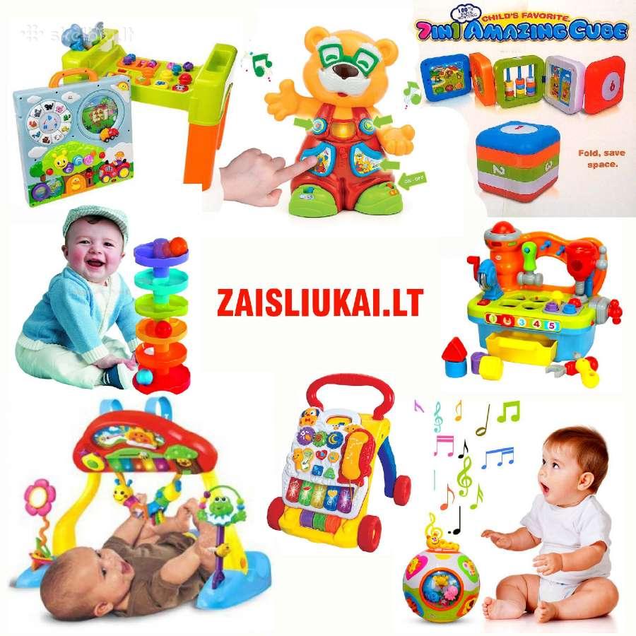 Skirtingi krapštimo žaislai kūdikiams