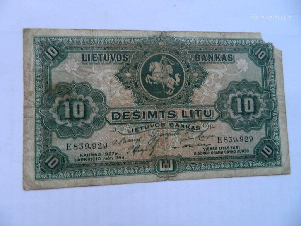 1927 m. 10 litu
