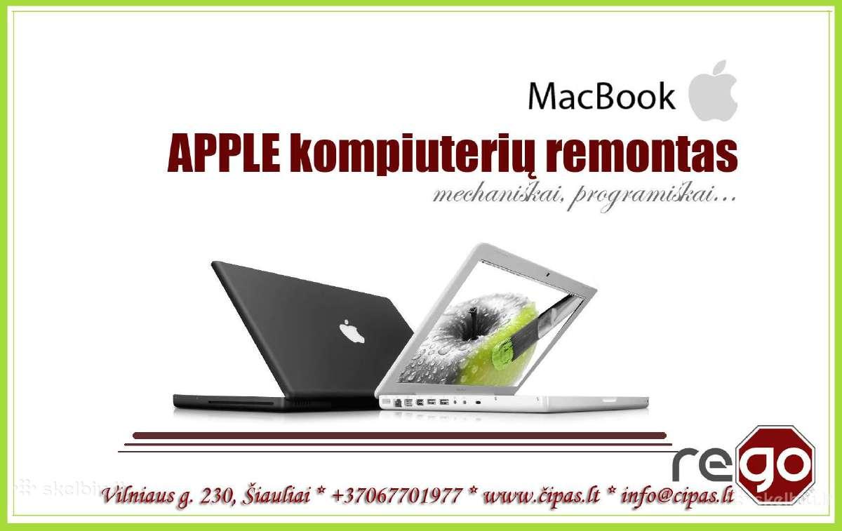 Apple nešiojamų, stacionarių kompiuterių, telefonų