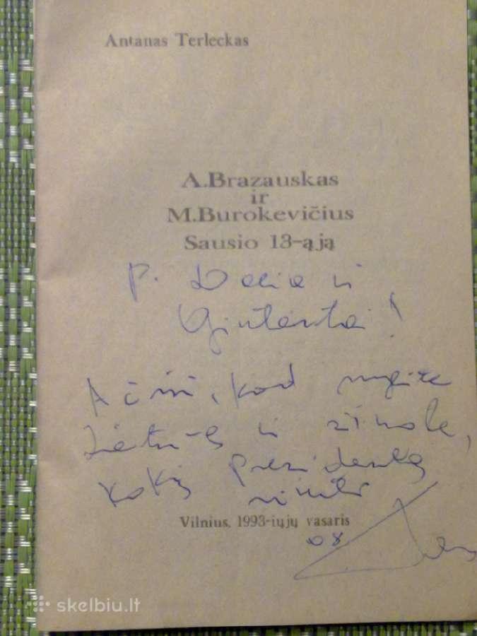 Knyga: A. Terleckas,a. Brazauskas ir M. Burokevič.