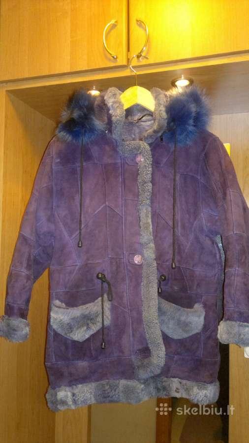 Šiltas vaikiškas avikailio paltukas 6-9m mergaitei
