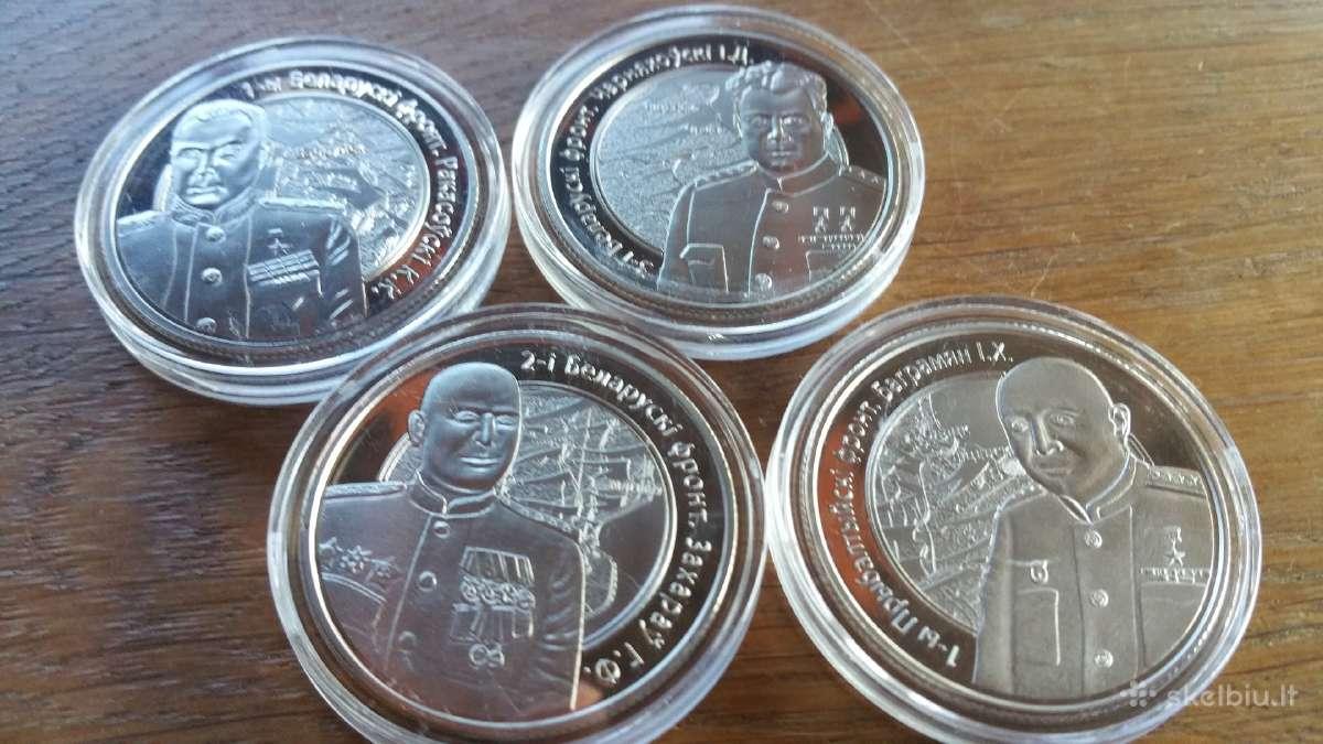 Siūlau Baltarūsiškų monetų komplektą kaina 25