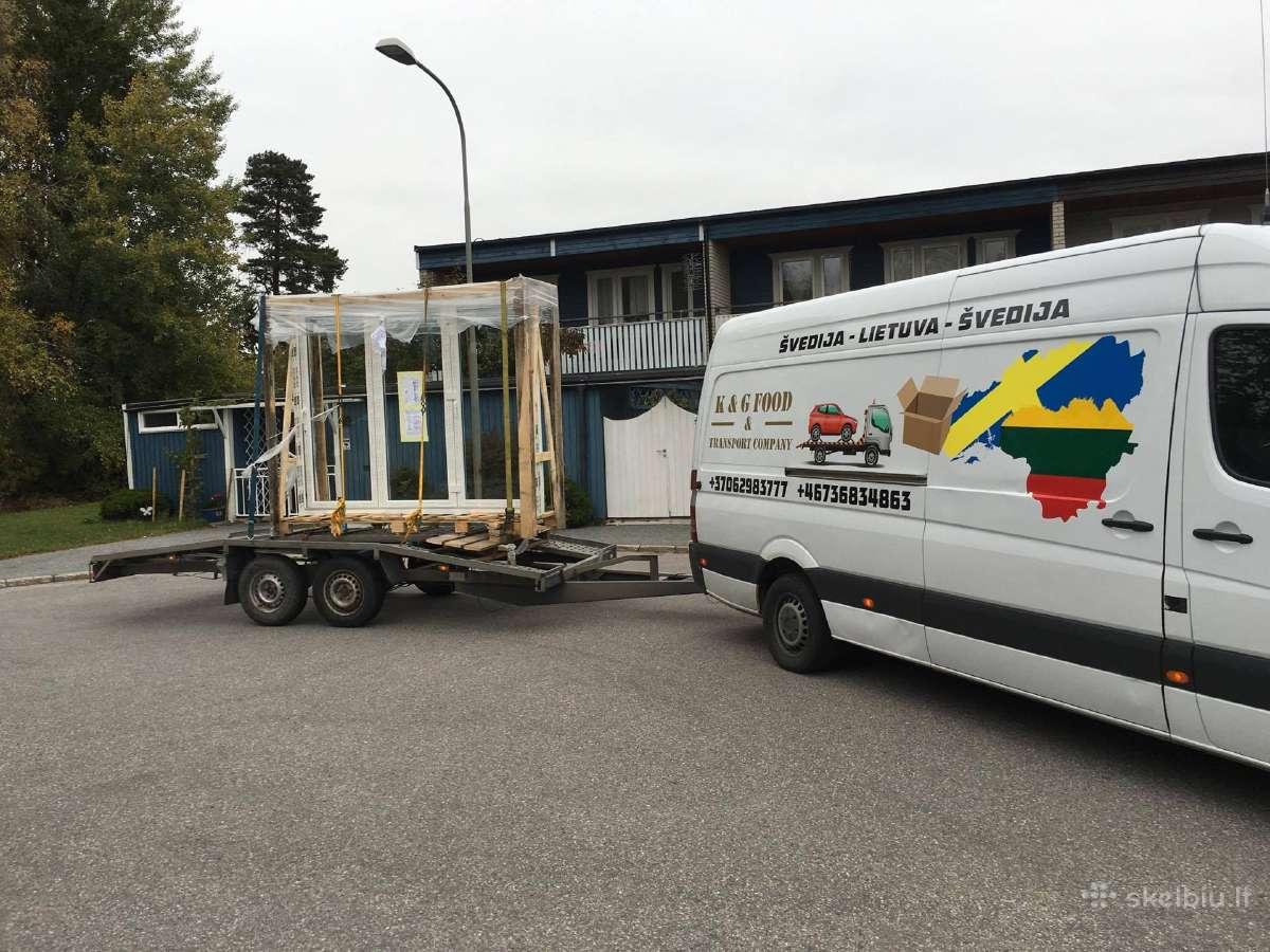 Express siuntų gabenimas Švedija Norvegija Suomija