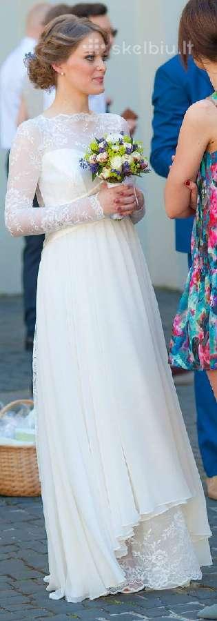 Vestuvinė suknelė - tinka nėštukei/besilaukiančiai