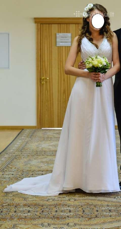 Balta romantiška suknelė