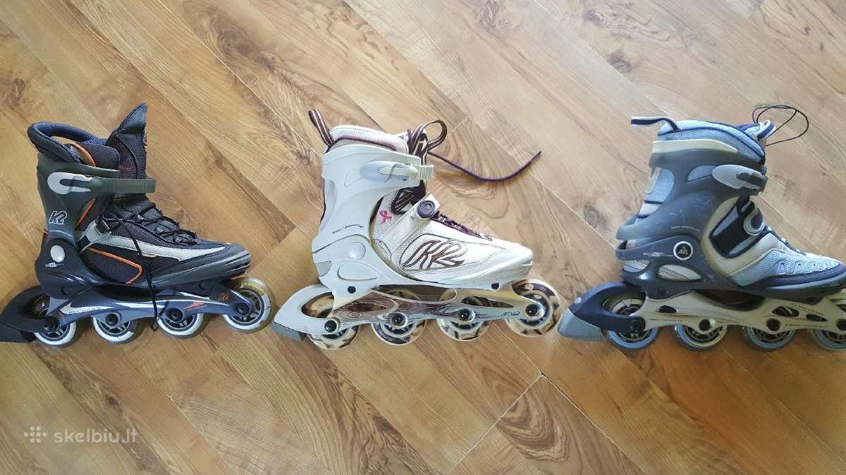 K2. Salomon Fila Rollerblade Nike rieduciai 40-41d