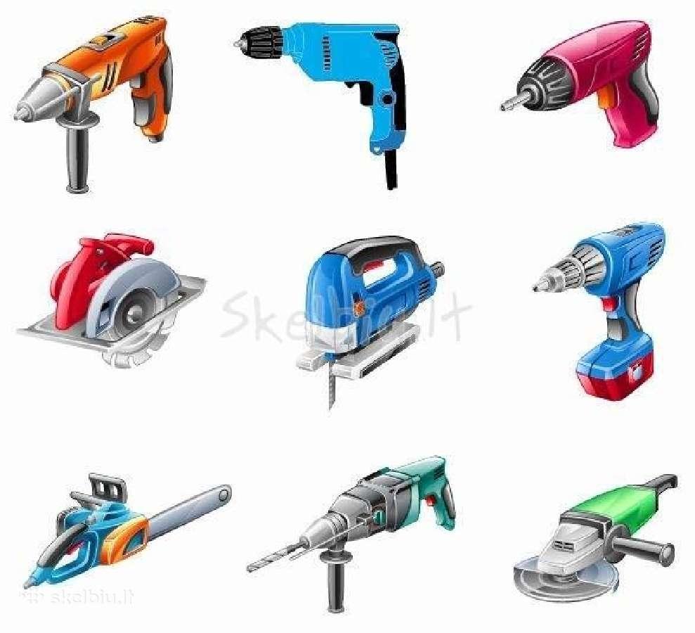 Superku statybinius įrankius