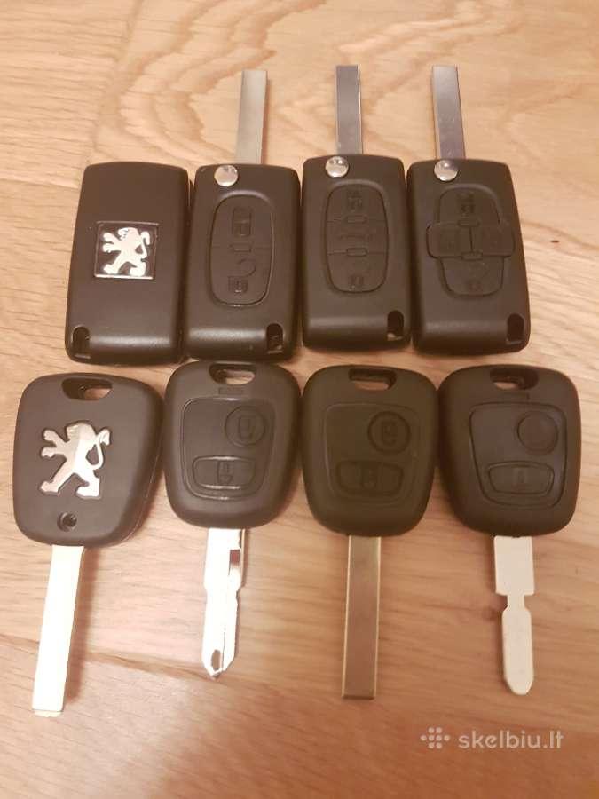 Peugeot raktai 307 407 206 607 207 raktas korpusai