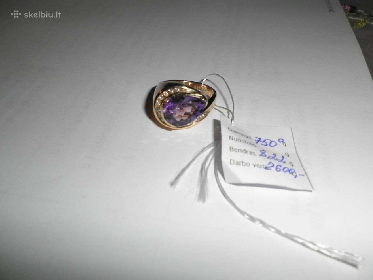 Parduodamas ziedas 16 briliantu, yra sertifikatas