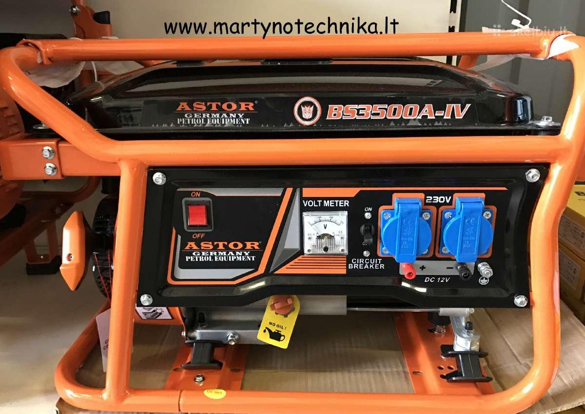 3kw generatorius astor akcija