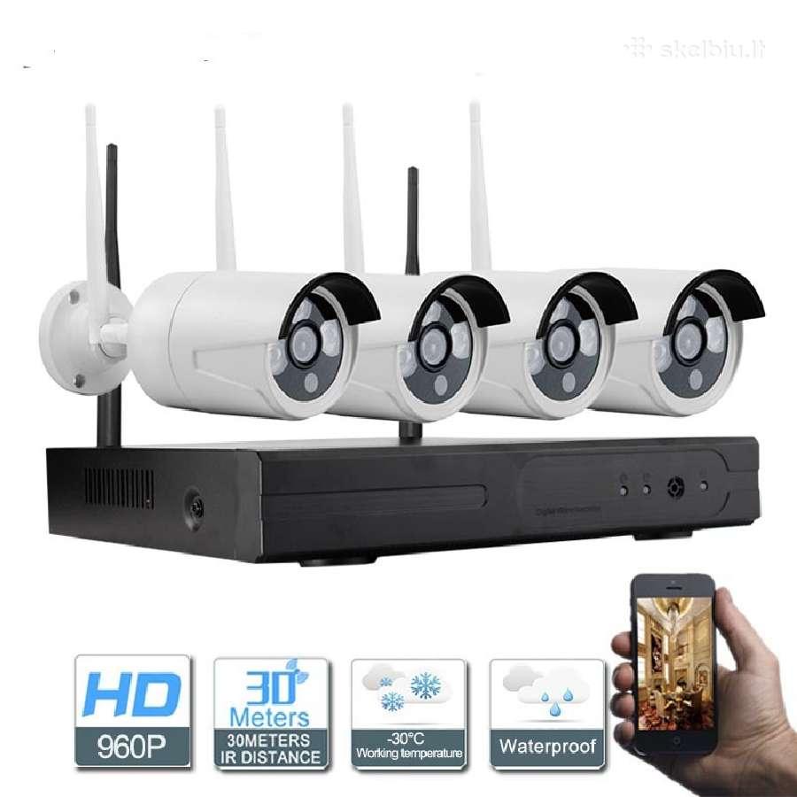 Belaidė/laidinė1.3mp(HD) stebėjimo kamerų sistema