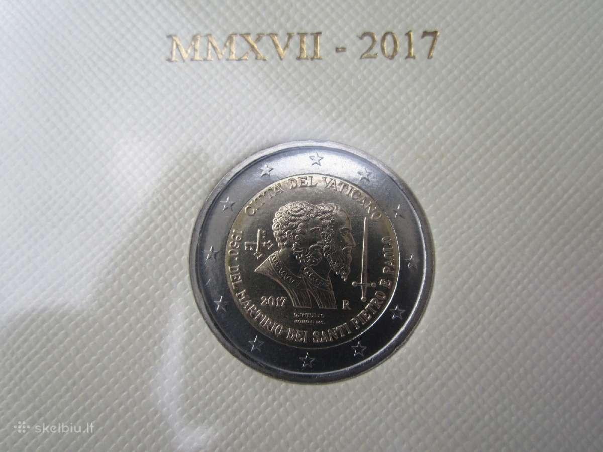 Vatikano 2 eurai 2017 m