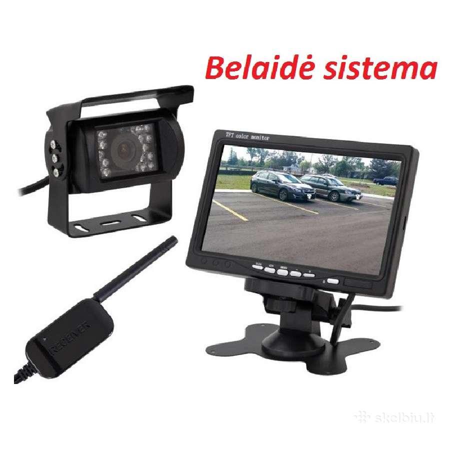 Bevielė vaizdo kamera automobilio galinio vaizdo s