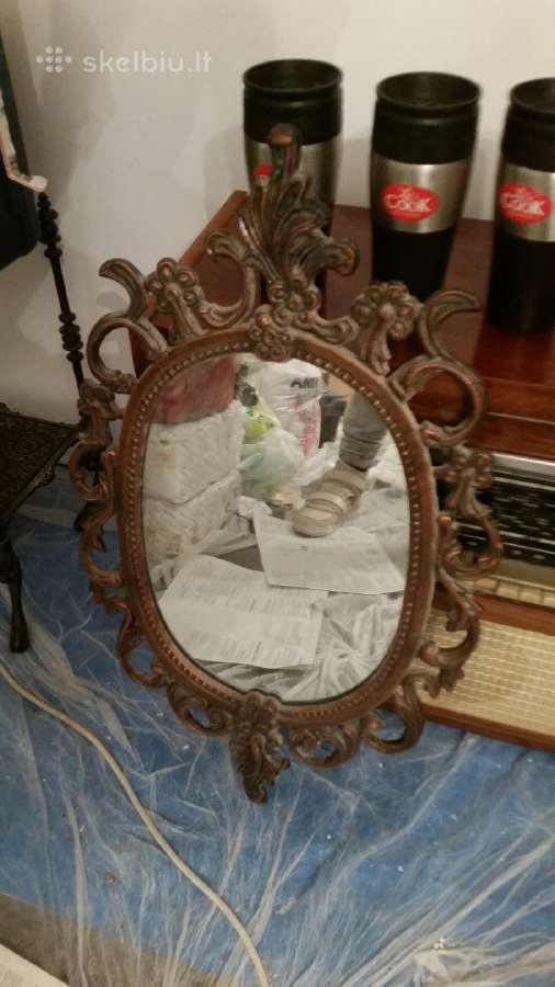 Antikvarinis vintazinis senovinis veidrodis