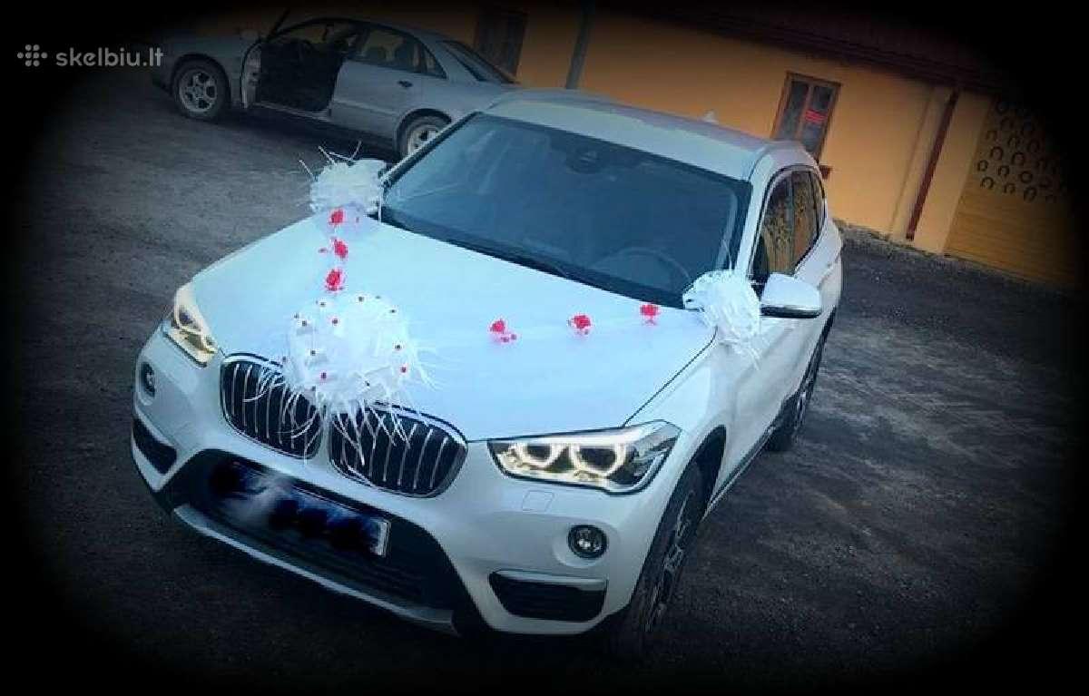 Papuosimai vestuviu automobiliams, dovanu kaspinai