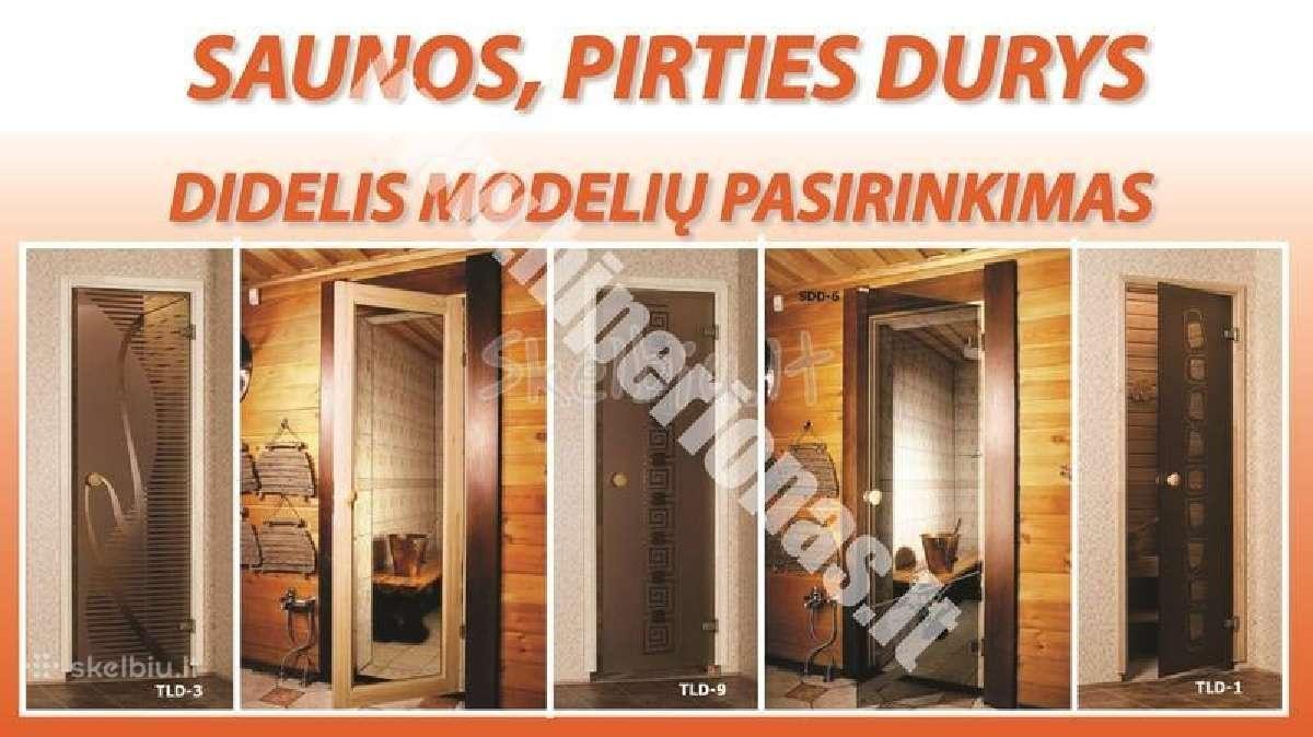 Pirties, saunos, garines durys vilniuje