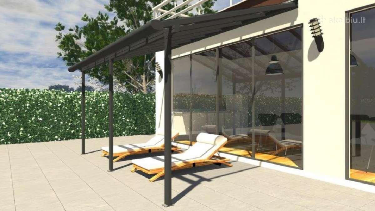 Easyline aliuminio stogelis terasai