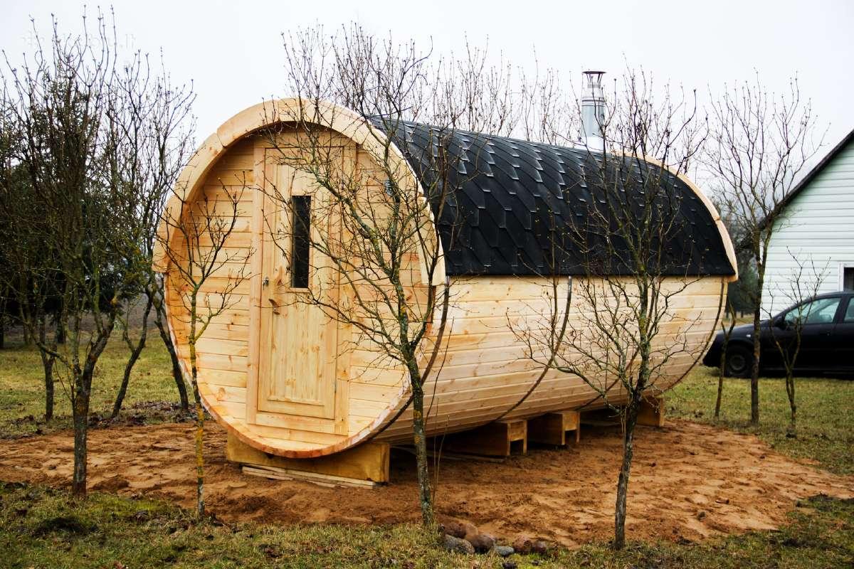 Apvali Lauko pirtis sauna - kubilas bačka L-4,8m