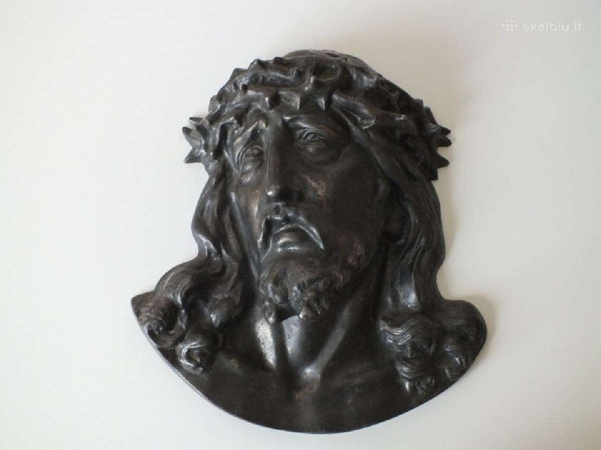 Senovinis Jezaus bareljefas. Kaina 80 Eur.