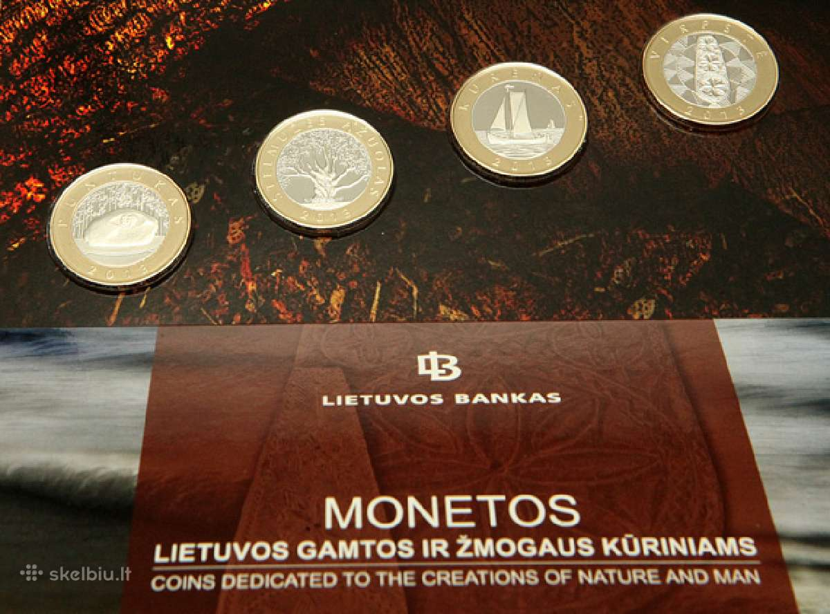 4 monetos proof 2013 m. 35 Eur