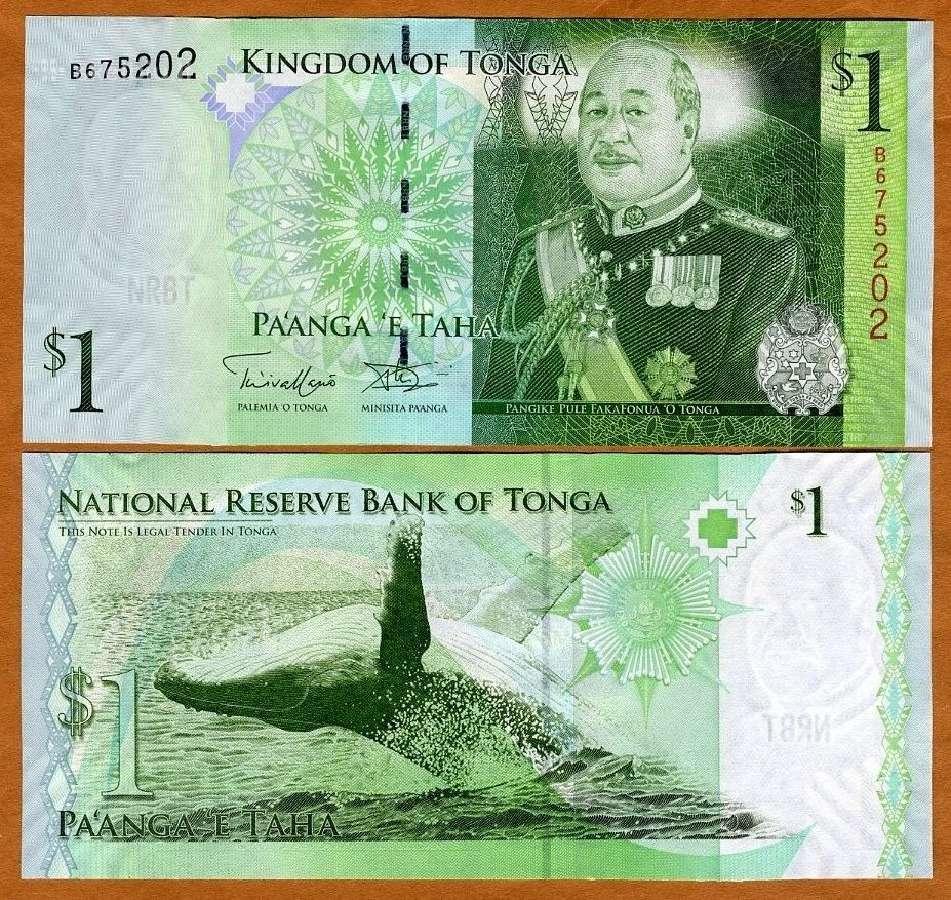 Tonga 1 Paanga 2009m. P37 Unc