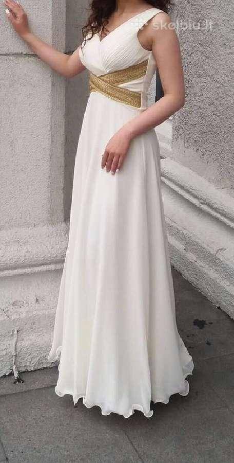 Dramblio kaulo spalvos ilga proginė elegantiška su