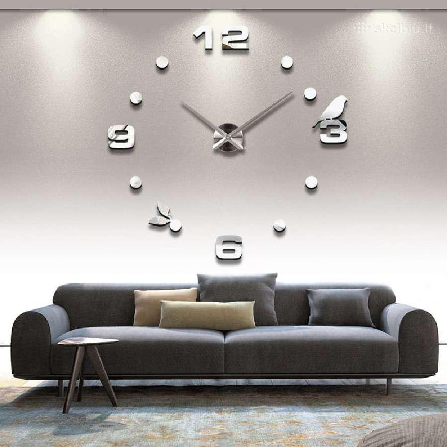 3D sieniniai laikrodžiai