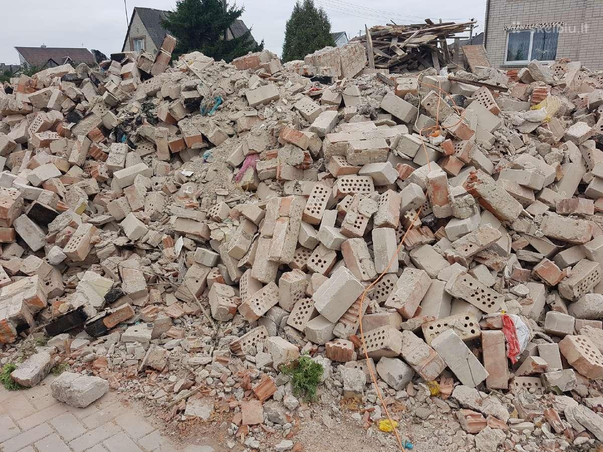 Statybinis lauzas- gruzas betonas gruntas