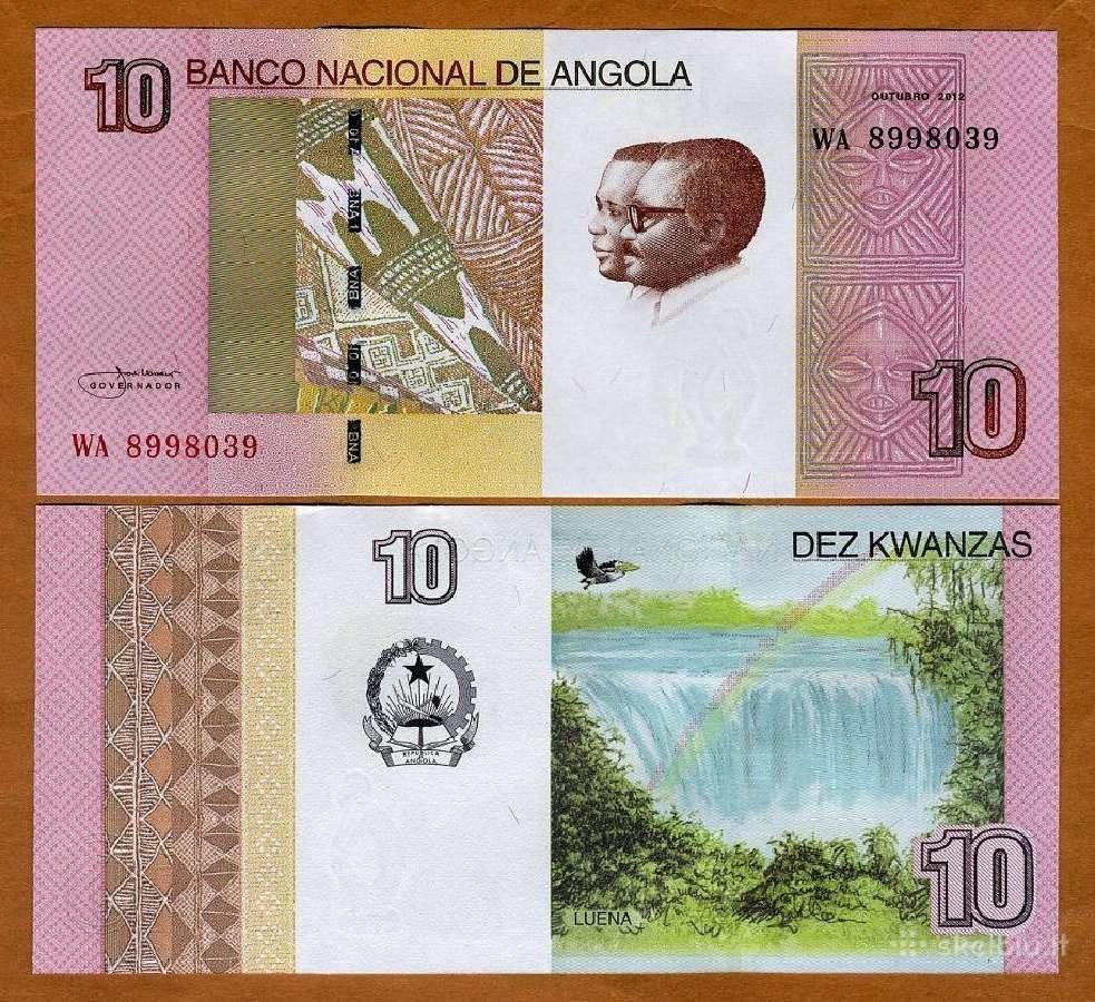 Angola 10 Kwanzas 2012(2017)m. P-new Unc