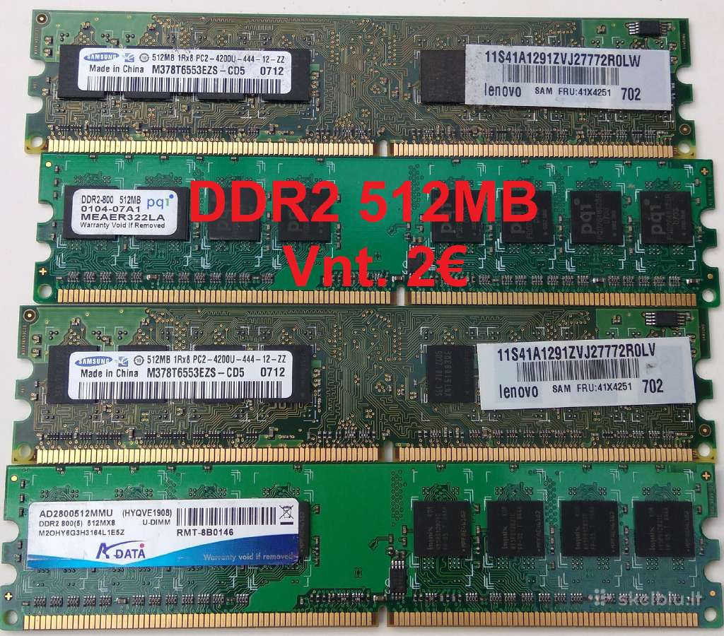 Pigu ddr1 Ddr2 RAM 256mb 512mb