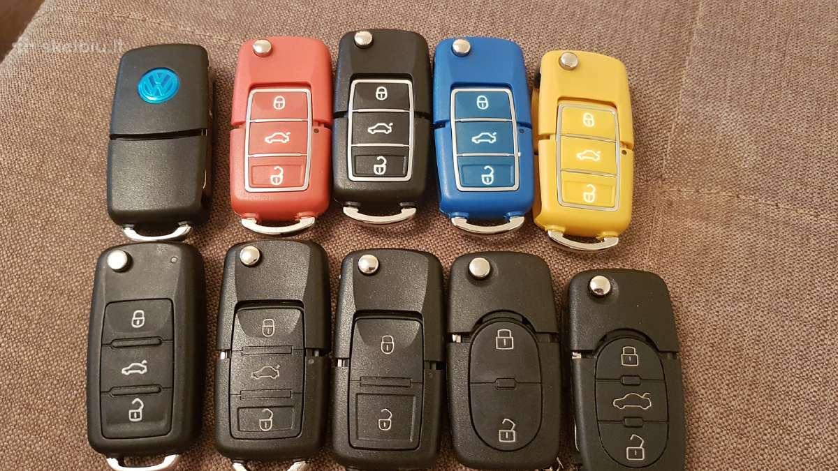 Volkswagen Seat skoda raktai korpusai mygtukai