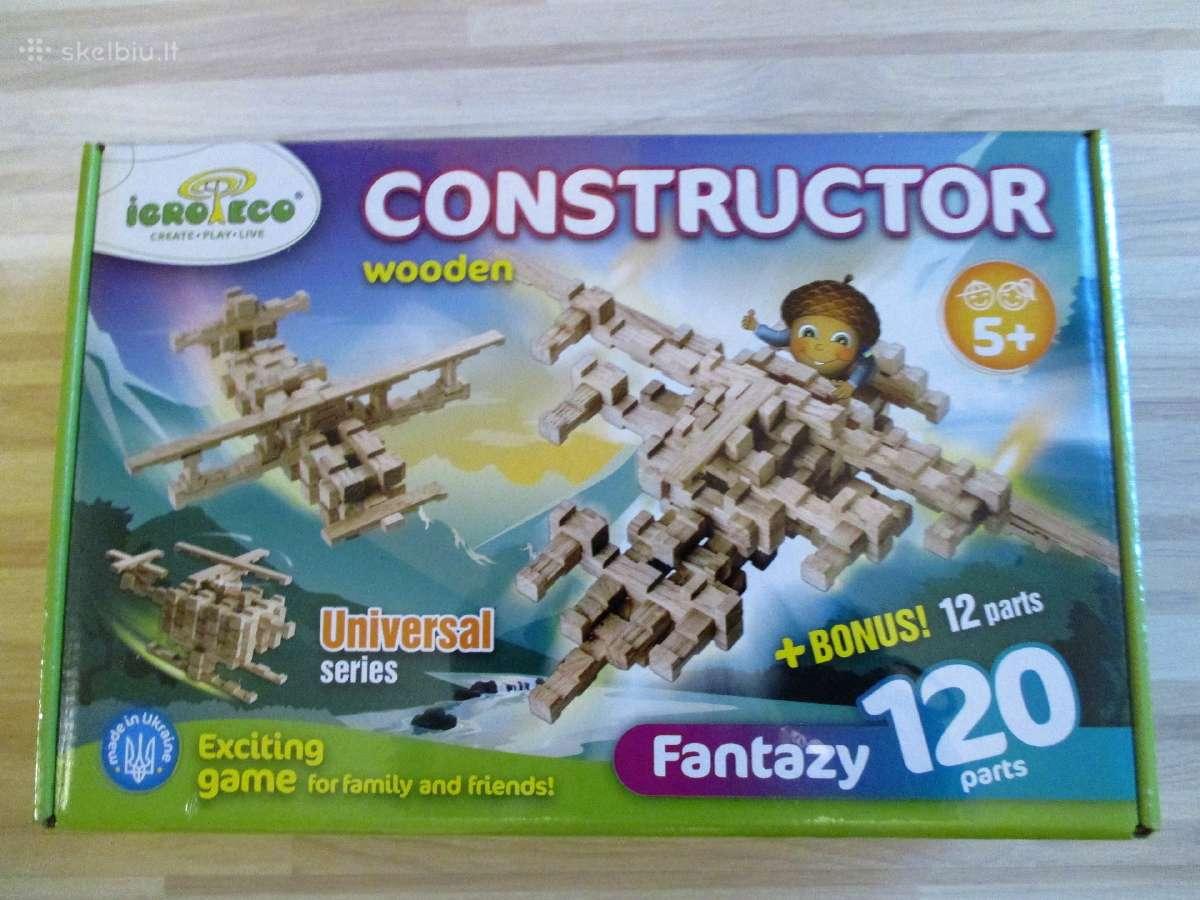 Smagūs mediniai konstruktoriai