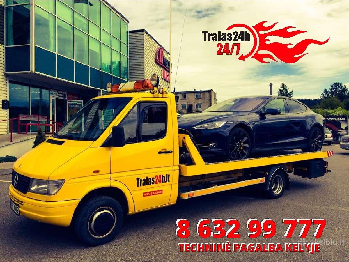 Pagalba kelyje Vilniuje - Tralas 24h