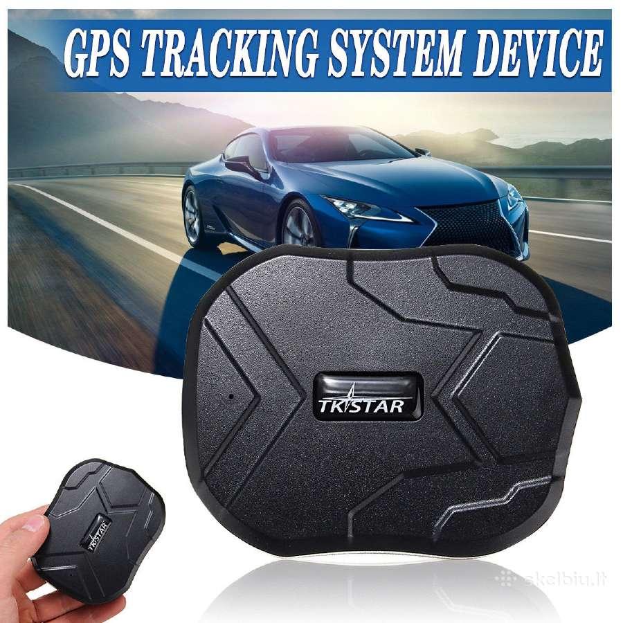 GPS seklys su galingu akumuliatorium ir magnetu
