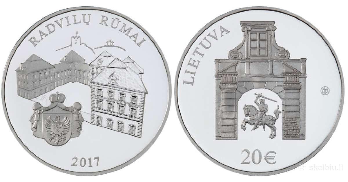 20 € moneta, Radvilų rūmai