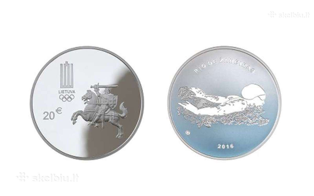 20 Eur moneta, skirta Xxii olimpinėms žaidynėms Ri