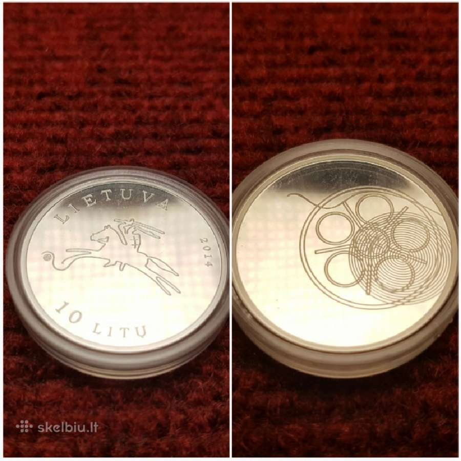 """10 Litų moneta, skirta kinui (iš serijos """"Lietuvos"""