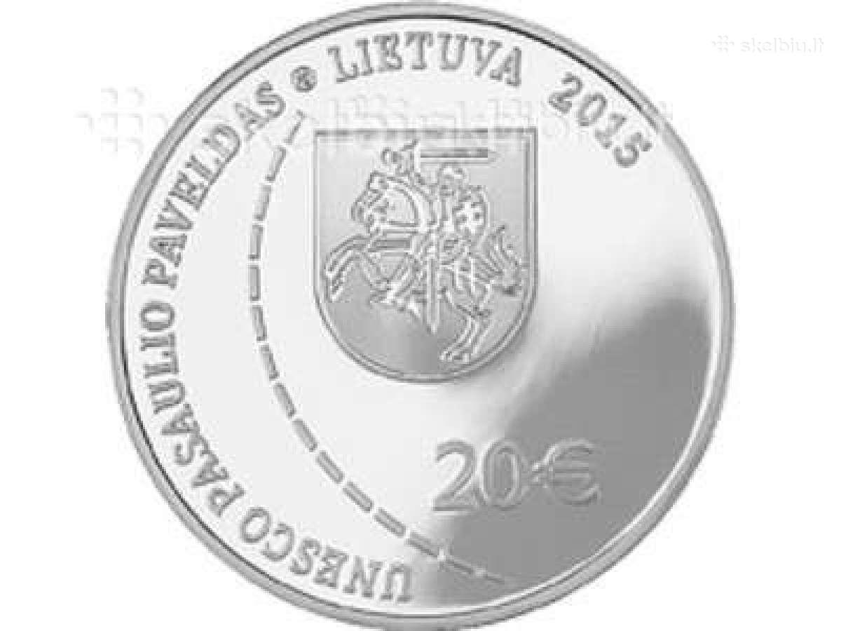 20 Eurų sidabrinė moneta, skirta Struvės geodezini