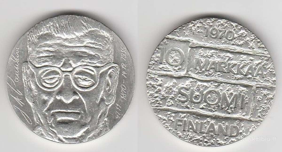 Suomija 10mark. ir 100mark. nuo 1970 iki 2001m.