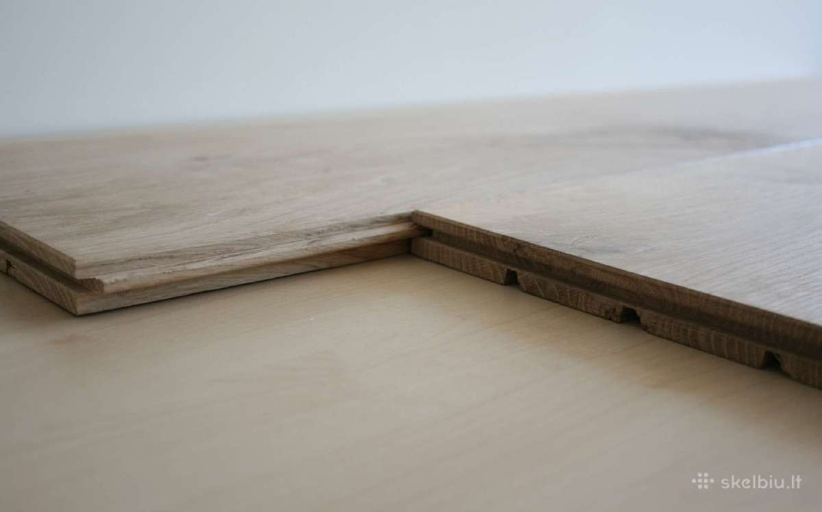Plačios ąžuolo masyvo grindys - grindlentės