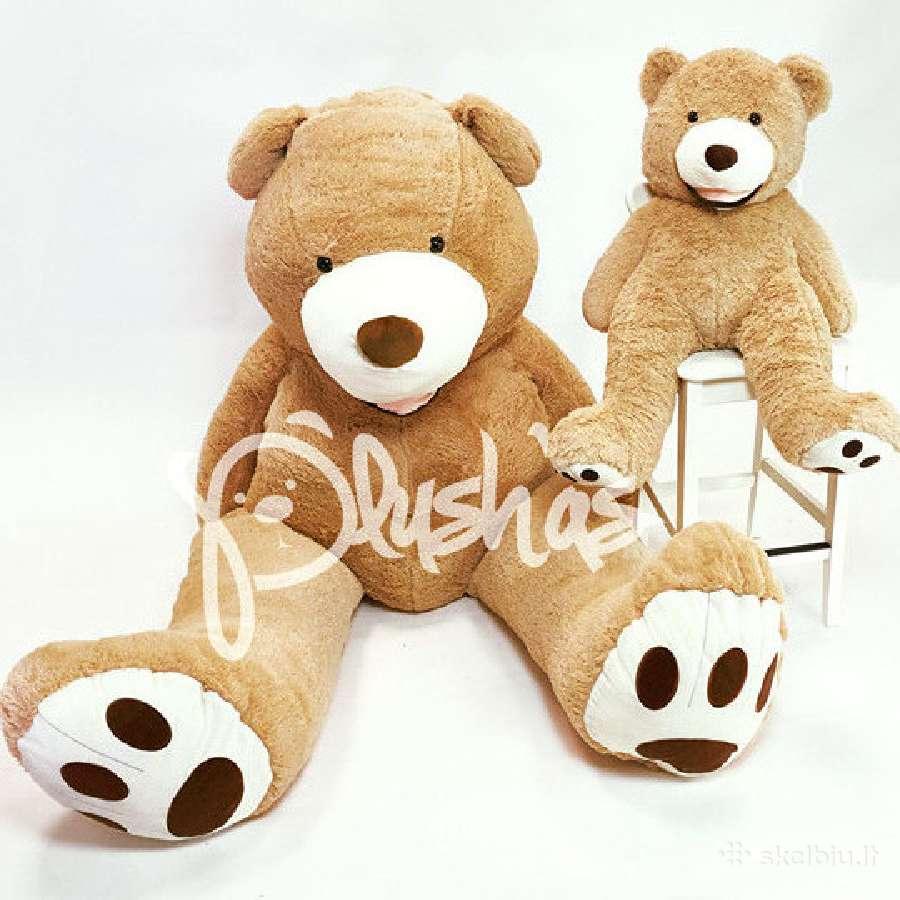 Dideli Kokybiški Pliušiniai meškinai Teddy Bear