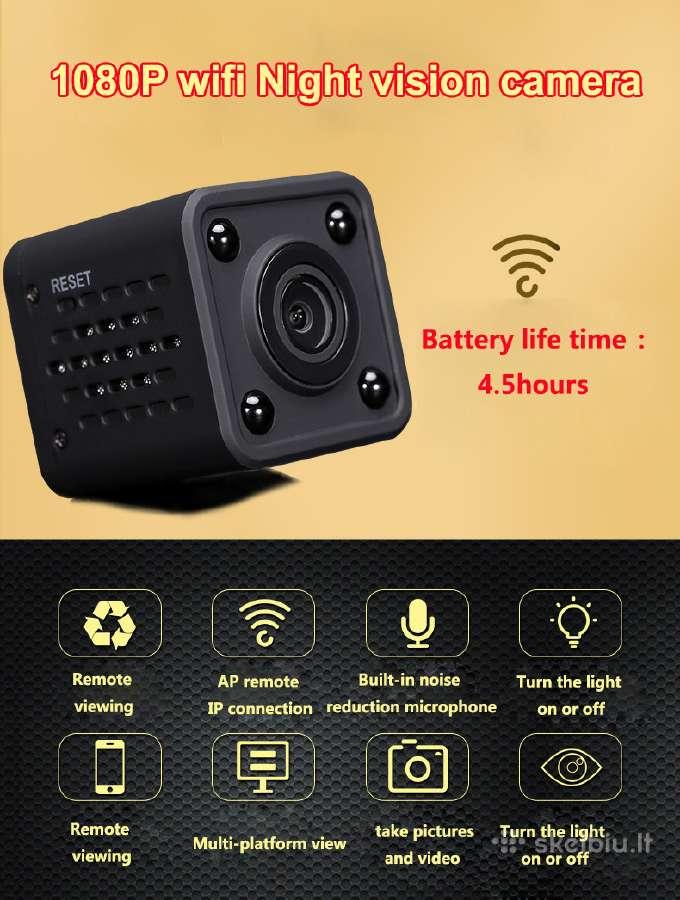 Slapta WiFi,ip,p2p Full HD (1080p) Kamera