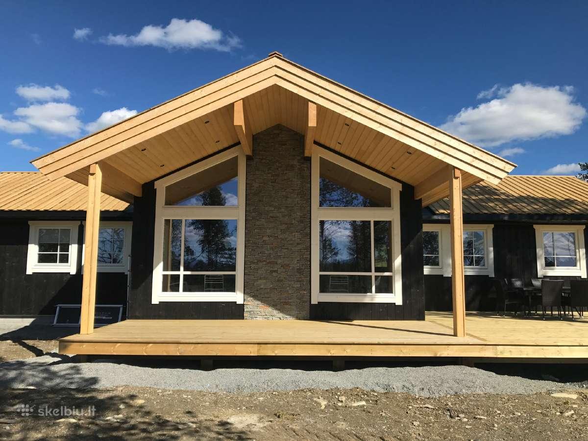 Rąstiniai, karkasiniai namai, terasos, mediena