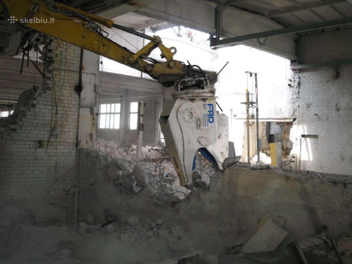 Pamatų ardymas, betono/gelžbetonio trupinimas