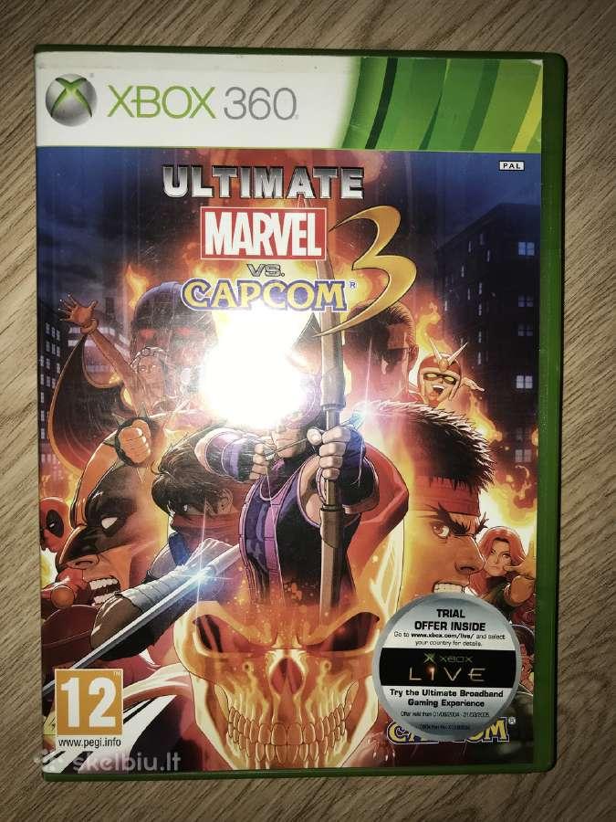 Parduodu xbox360 zaidima Ultimate marvel vs capcom